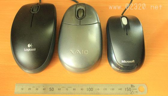 Microsoftマウスのサイズ比較
