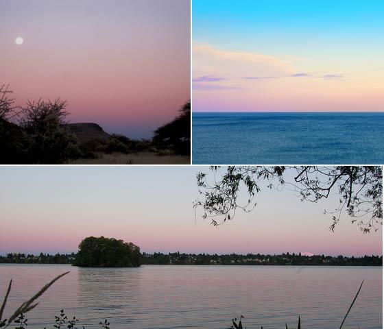 ピンク色の空はビーナスベルト & 地球影という現象でした