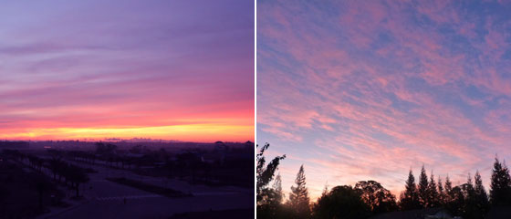 朝焼け・夕焼けの空