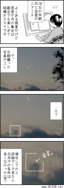 月と惑星集合は惑星の軌道面を想像出来る良い機会です