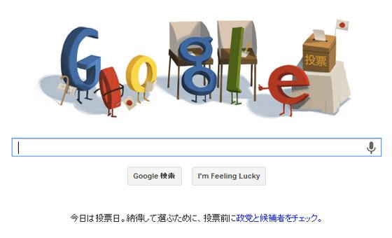 google doodle参院選