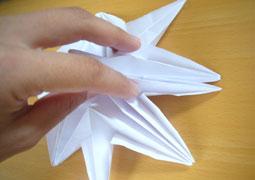 5首鶴の折り方途中