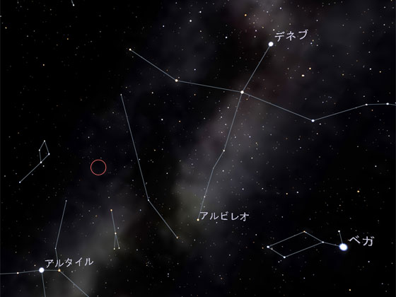 いるか座新星(Nova Del 2013)位置情報