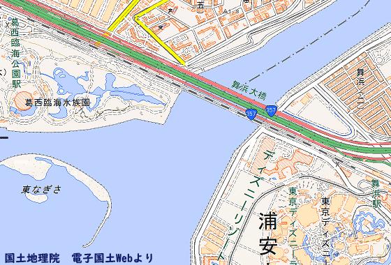 江戸川区と浦安市の境界