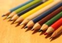 水彩色鉛筆がわりに普通の色鉛筆を使うとまるでクレヨンの書き味