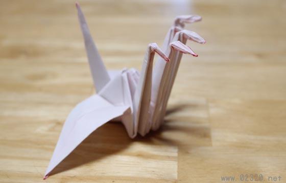 頭5つの折り鶴(五首鶴)展開図作るのも大変だし動画撮ったよ