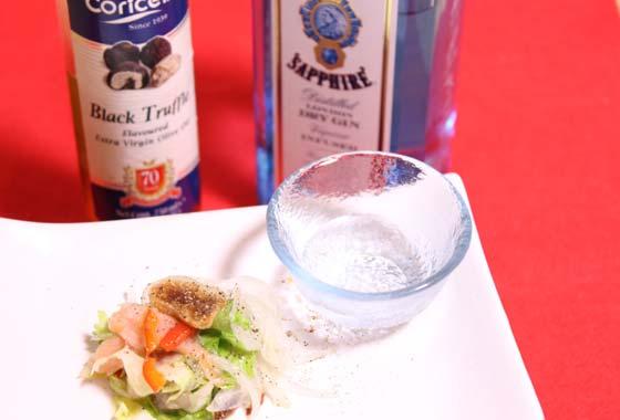 増田サラダで酒を飲む