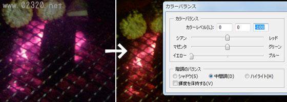 赤外線写真の色補正