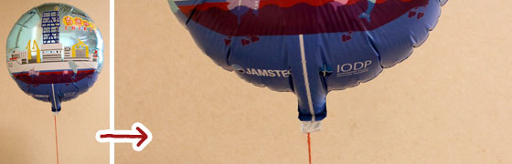 JAMSTEC横須賀本部で配ってた「ちきゅう」風船