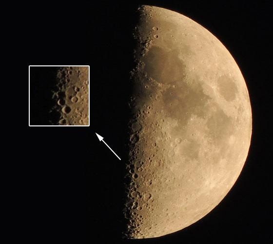 月面Xと拡大図