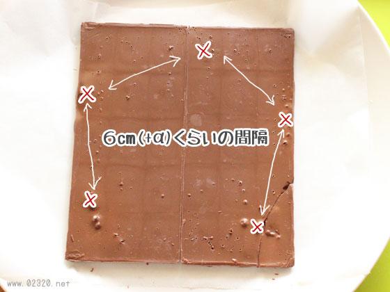 チョコレートの溶けたスポットを計測