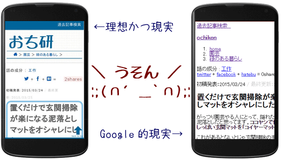 GooglebotがCSSをレンダリングしない