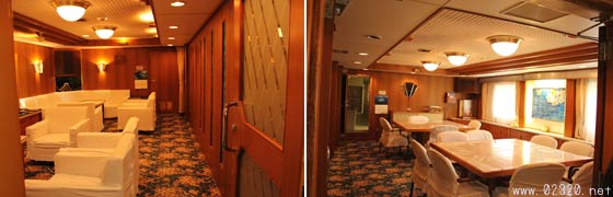 白鳳丸の来賓室と食堂
