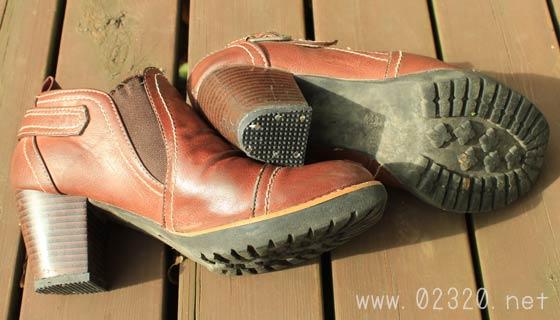 修理済みの靴底