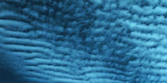 波状高積雲(畝雲)