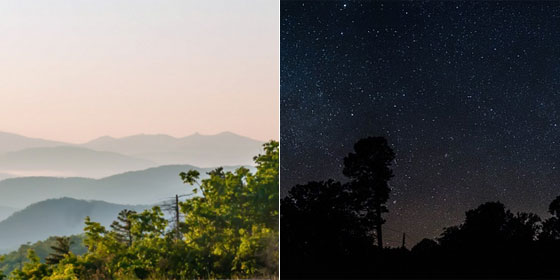 昼の空と夜の空