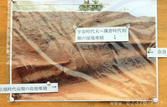 鎌倉長谷小路遺跡の地層断面