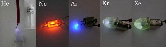 希ガスの発色反応