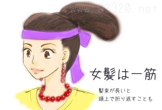 古墳時代の女性の髪(古墳島田)
