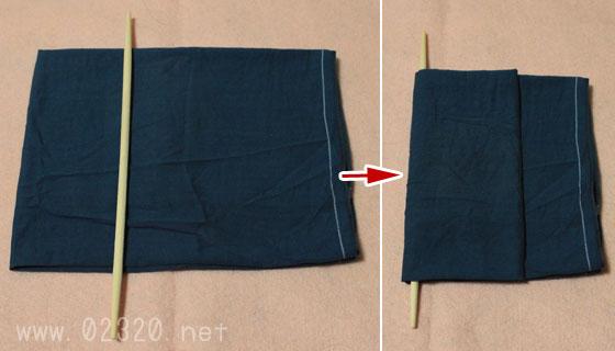 簡易担架の作り方1