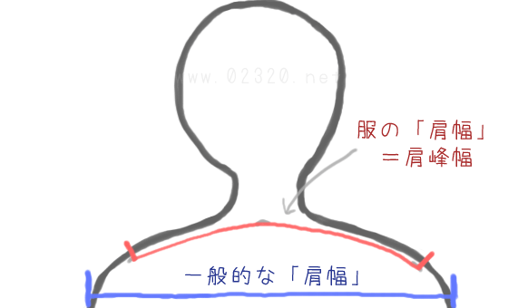 肩幅の測定方法