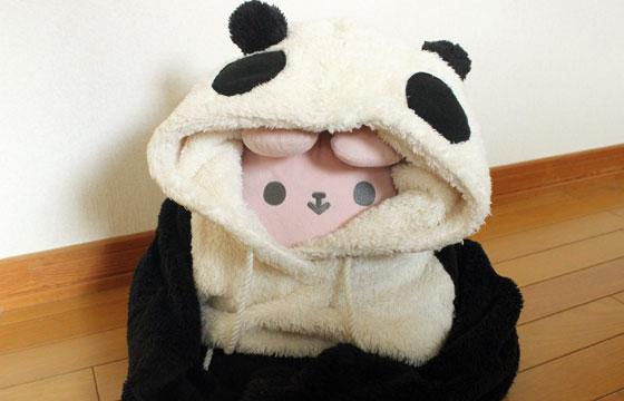 パンダの着ぐるみ健康法